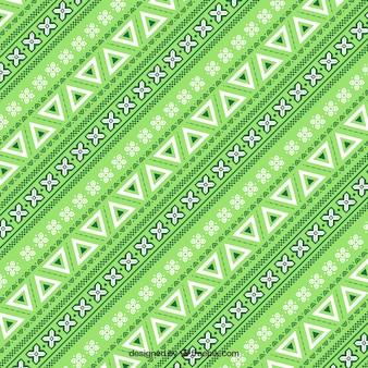 Zielony wzór w stylu etnicznym