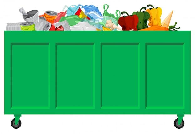 Zielony zbiór śmieci