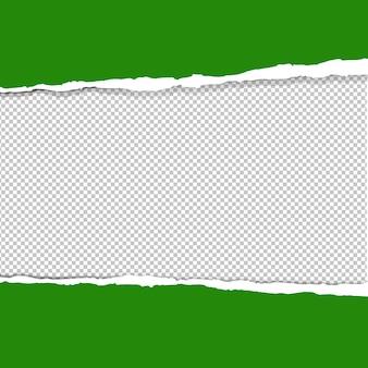 Zielony zgrywanie papieru