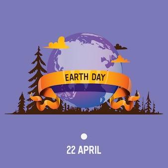 Ziemia planeta wektor globalny świat wszechświat dzień ziemi i ogólnoświatowa uniwersalna kula ziemska ilustracja