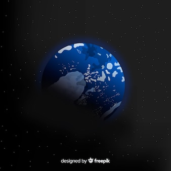 Ziemia tło w przestrzeni