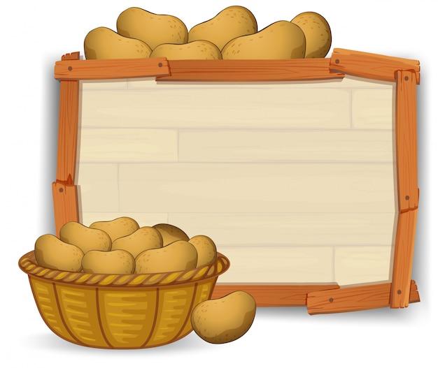 Ziemniak na drewnianej desce
