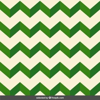 Zig zag wzór zielony