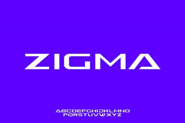 Zigma, futurystyczny elegancki i złoty nowoczesny typ