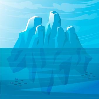 Zilustrowana góra lodowa