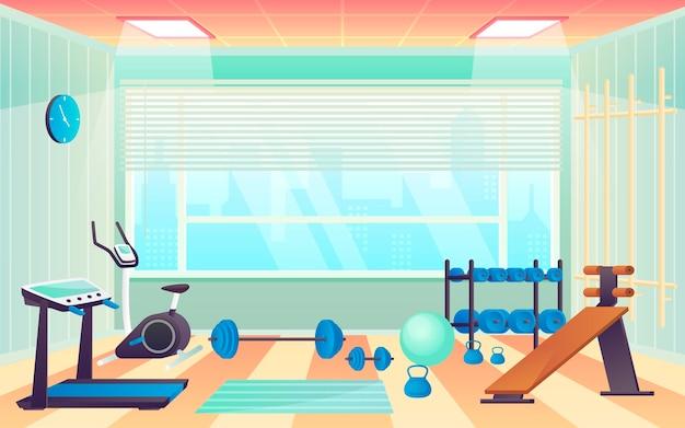 Zilustrowana gradientowa siłownia domowa
