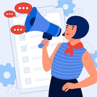 Zilustrowana koncepcja public relations