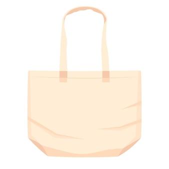 Zilustrowana płaska torba z tkaniny
