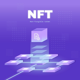 Zilustrowano koncepcję gradientu nft