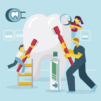 Zilustrowano koncepcję opieki stomatologicznej