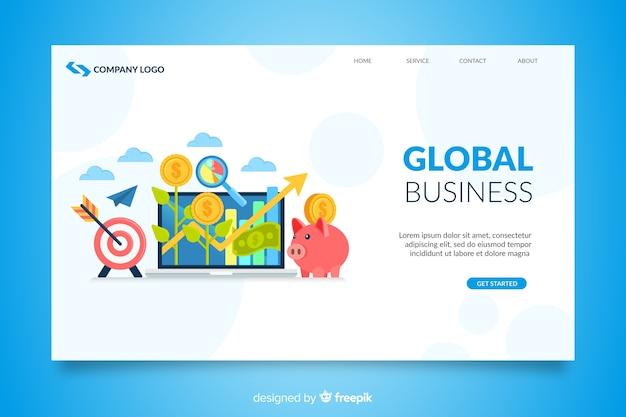 Zilustrowano stronę docelową firmy