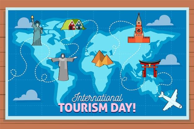 Zilustrowany dzień turystyki