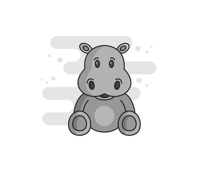 Zilustrowany hipopotam