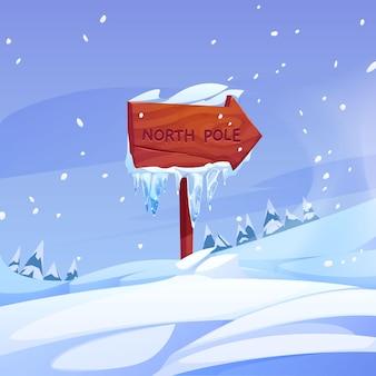Zilustrowany kierunek bieguna północnego