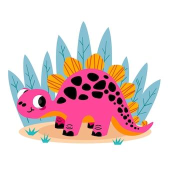 Zilustrowany kreskówka dinozaur dziecko
