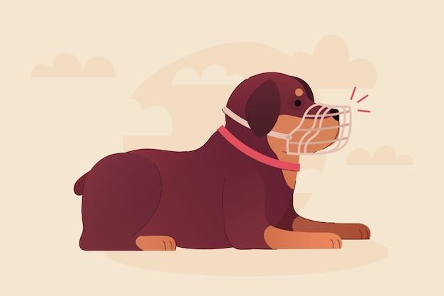 Zilustrowany płaski pies kagany
