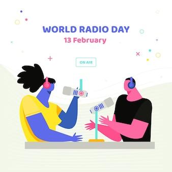 Zilustrowany światowy dzień radia