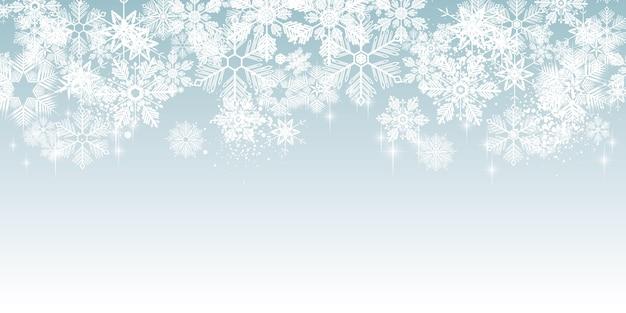 Zima białe płatki śniegu tło