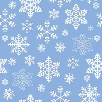 Zima boże narodzenie nowy rok wzór piękna tekstura z płatkami śniegu