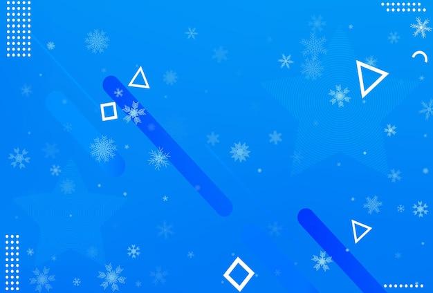 Zima boże narodzenie śnieżynka tło. spadający wektor płatka śniegu