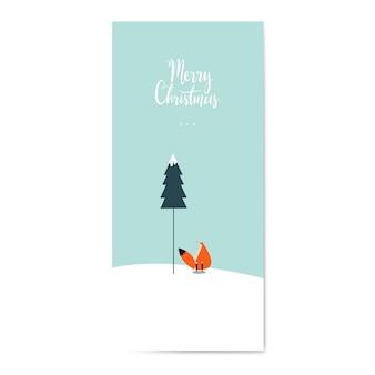 Zima o tematyce pocztówka projekt wektor