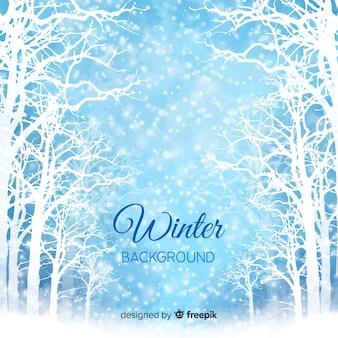 Zima w tle