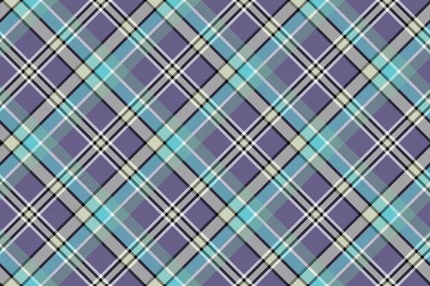 Zimne kolory plaid przekątnej piksele bezszwowe tło