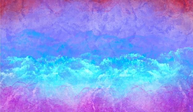 Zimne niebieskie tło akwarela