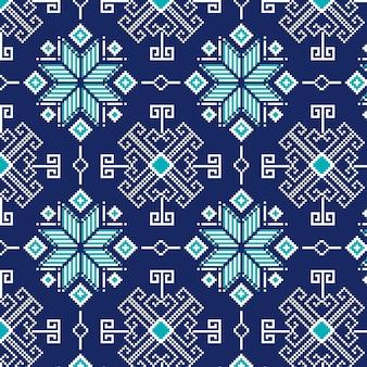 Zimne zimowe płatki śniegu wzór songket