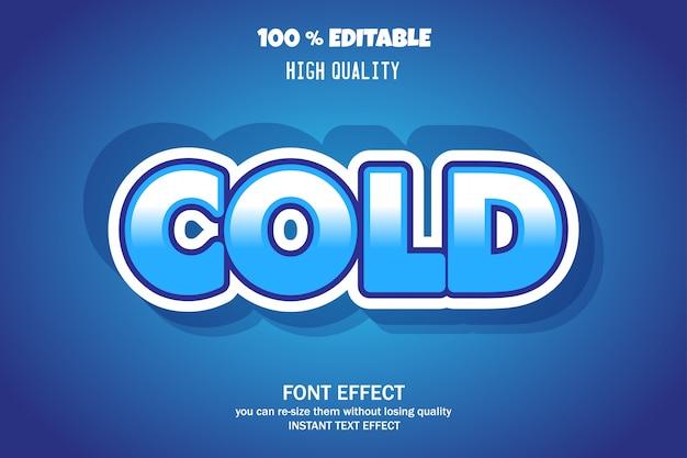 Zimny tekst, edytowalny efekt czcionki