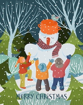 Zimowa ilustracja