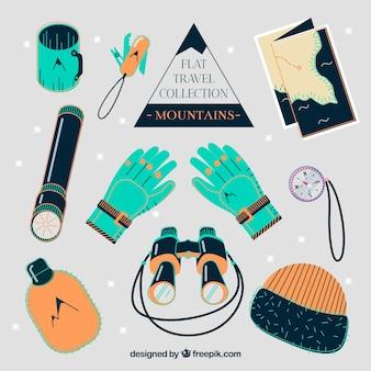 Zimowa kolekcja elementów podróży