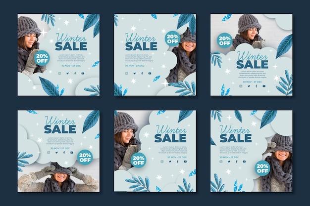 Zimowa kolekcja pocztowa ig