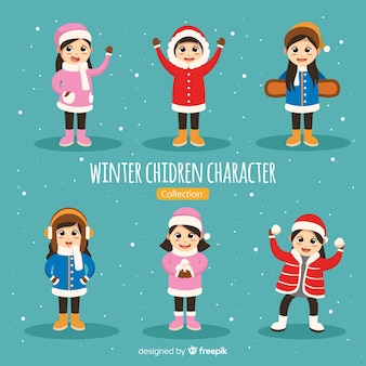 Zimowa kolekcja postaci dla dzieci