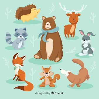 Zimowa kolekcja zwierząt