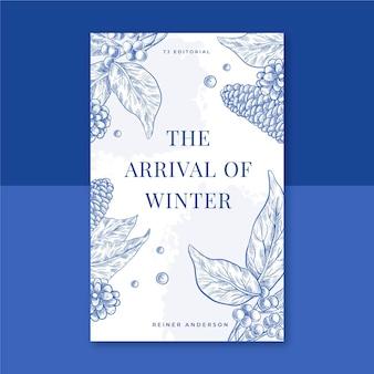 Zimowa okładka książki z kwiatami