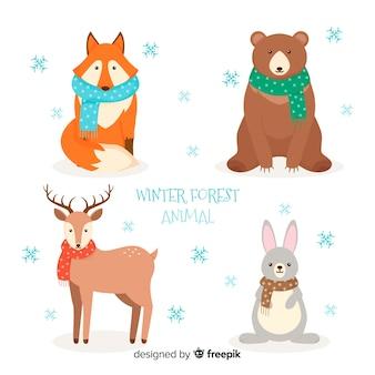 Zimowa paczka zwierząt leśnych