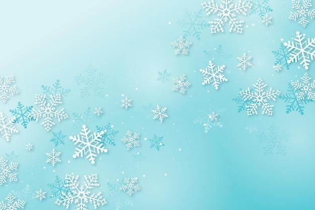 Zimowa tapeta w stylu papierowym
