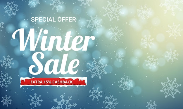 Zimowa wyprzedaż tło specjalna oferta tło baner