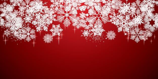 Zimowe białe płatki śniegu tło