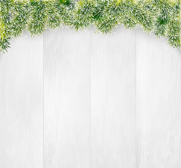 Zimowe boże narodzenie drewniane tła