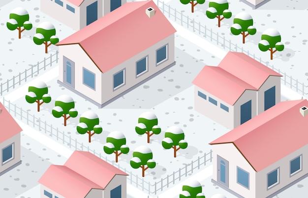 Zimowe choinki bezszwowe tło