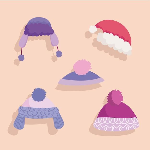 Zimowe ciepłe akcesoria mody