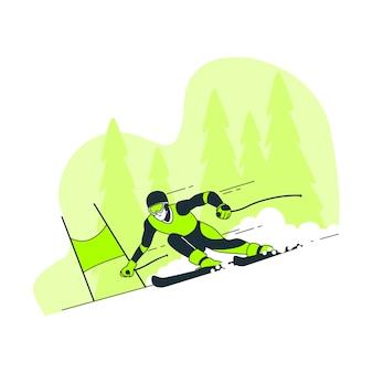 Zimowe igrzyska olimpijskie ilustracja koncepcja
