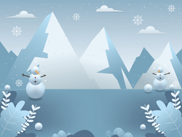 Zimowe ilustracje tła