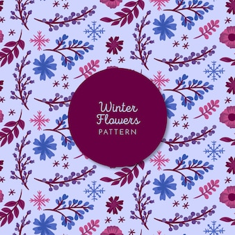 Zimowe kwiaty wzór