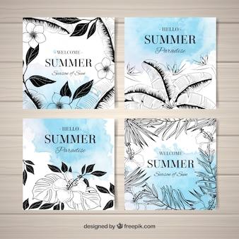 Zimowe letnie karty tropikalne