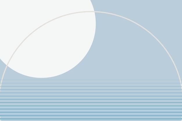 Zimowe niebieskie tło estetyczne wektor geometryczny styl minimalistyczny