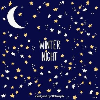 Zimowe noc tło