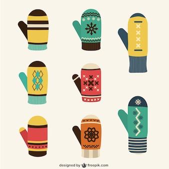 Zimowe rękawiczki kolekcji